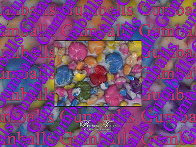 Digital Art - Gumballs #0000b by Barbara Tristan
