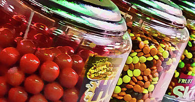 Photograph - Gumballs And Candy Dispensers by Greg Jackson
