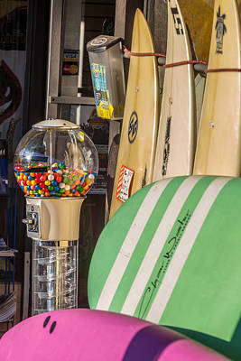 Photograph - Gumballs And Surfboards by Peter Tellone
