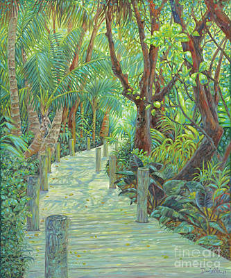 Gumbo Limbo Path Art Print by Danielle Perry