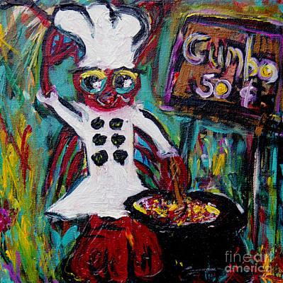 Crawfish Painting - Gumbo Ya Ya by Sharon Furrate