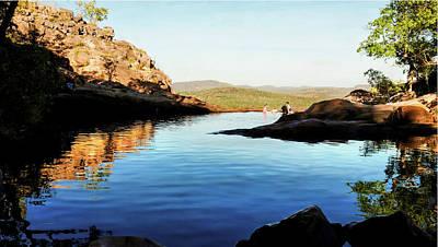 Gunlom Infinity Pool - Kakadu National Park, Northern Territory Art Print