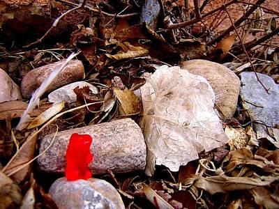 Rest Stop Photograph - Gummy Bear Hiking by Jera Sky