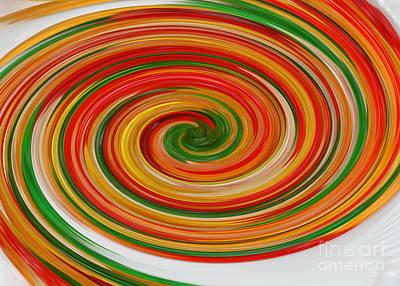 Gummy Digital Art - Gummy Bear Swirl by Brian Flannery