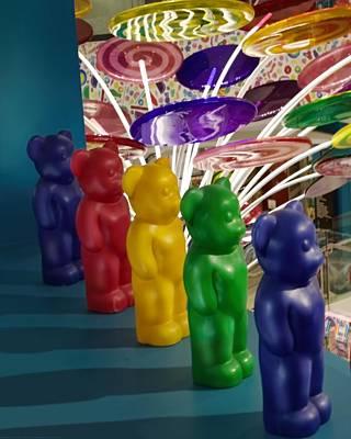 Gummi Candy Photograph - Gummy Bears All In A Row by Chrystyne Novack