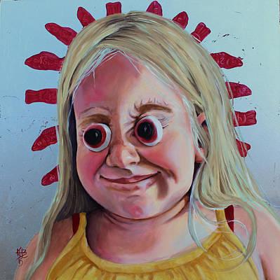 Painting - Gummy Eyes Swedish Fish by Kirsten Beitler