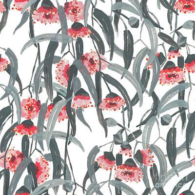 Digital Art - Gumnuts by Marni Stuart