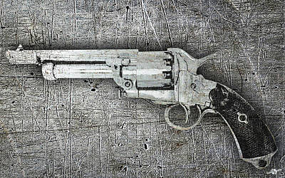 Contemporary Western Art Mixed Media - Shot The Sheriff by Tony Rubino