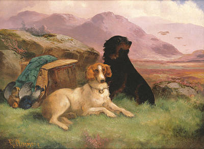 Paws Painting - Gun Dogs by Robert Cleminson