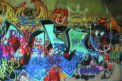 Photograph - Gun Emplacement Graffiti by Richard Gibb