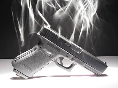 Glock Photograph - Gun Smoke by Michael Ludlum