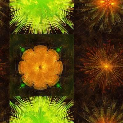 Tenn Painting - Gunating Beauty Flowers  Id 16164-193636-66060 by S Lurk