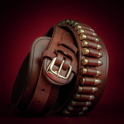 Leather Photograph - Gunbelt Bandolier by Tom Mc Nemar