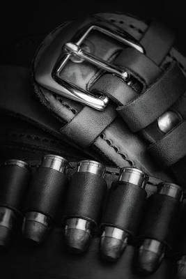 Leather Photograph - Gunbelt by Tom Mc Nemar
