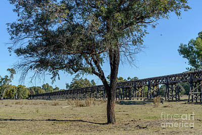 Photograph - Gundagai Rail Viaduct 05 by Werner Padarin