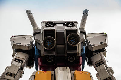 Giant Robot Photograph - Gundam Mobile Suit Rx-78-2 Statue Odaiba Tokyo J by Roald Nel
