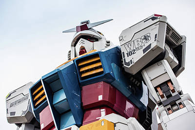 Giant Robot Photograph - Gundam Mobile Suit Rx-78-2 Statue Odaiba Tokyo Japan by Roald Nel