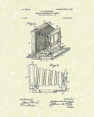 Camera Drawing - Gundermann Photographic Camera 1904 Patent Art by Prior Art Design
