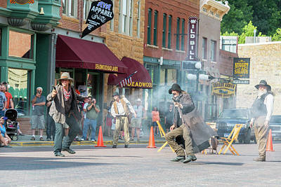 Wild Bill Hickok Photograph - Gunfight Reenactment In Deadwood, South Dakota by Jess Kraft