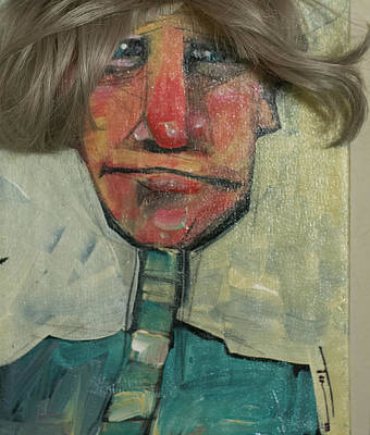 Painting - Gunnar With Wig by Tim Nyberg