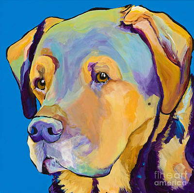Dog Portrait Painting - Gunner by Pat Saunders-White