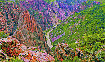 Digital Art - Gunnison River by Walter Colvin