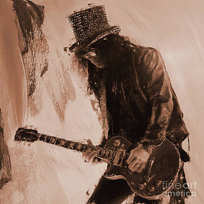 Painting - Guns And Roses by Gull G