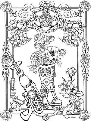 Drawing - Guns And Roses by Melodye Whitaker