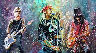 Painting - Guns N Roses by Miki De Goodaboom
