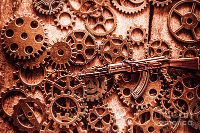 Terrorism Photograph - Guns Of Machine Mechanics by Jorgo Photography - Wall Art Gallery