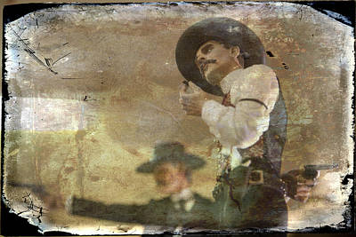 Gunslinger II Doc Holliday Art Print by Toni Hopper