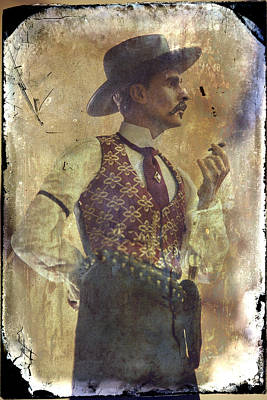 Collectible Photograph - Gunslinger IIi Doc Holliday In Fine Attire by Toni Hopper