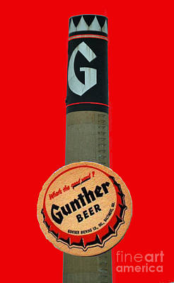 National Bohemian Beer Photograph - Gunther Beer by Jost Houk