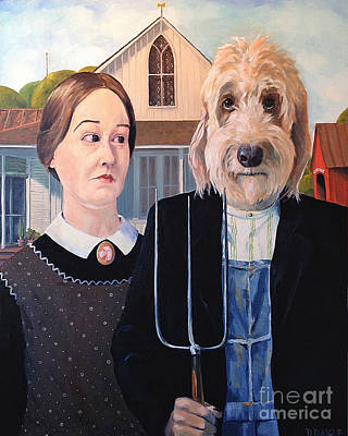 Painting - Gunther Goes Goth by Diane Daigle