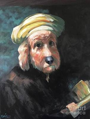 Painting - Gunther's Self Portrait by Diane Daigle
