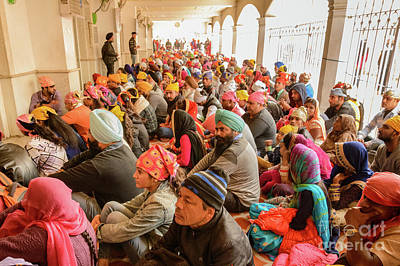 Photograph - Gurdwara Bangla Sahib Langar 02 by Werner Padarin