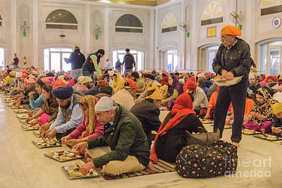Photograph - Gurdwara Bangla Sahib Langar 13 by Werner Padarin