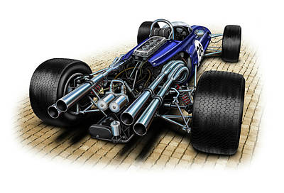 Gurney Eagle F-1 Car Art Print by David Kyte