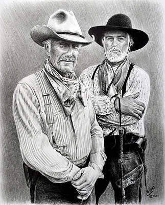 Drawing - Gus And Woodrow by Andrew Read