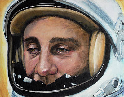Nasa Painting - Gus Grissom by Simon Kregar