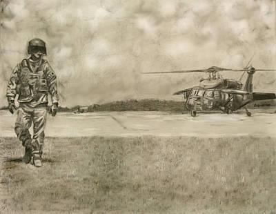 Chopper Drawing - Gus by Jennifer Delamar-Goss