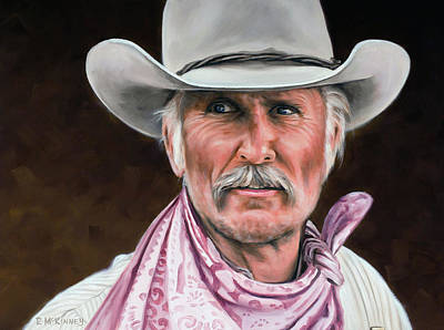 Texas Drawing - Gus Mccrae Texas Ranger by Rick McKinney