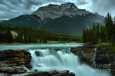 Photograph - Gushing Glacier Falls by Adam Jewell