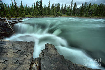 Photograph - Gushing Over The Edge Of Athabasca by Adam Jewell