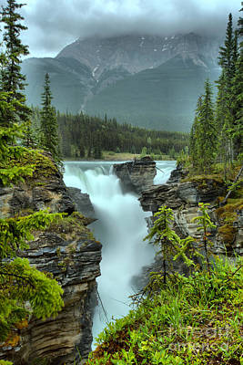 Photograph - Gushing Through A Lush Green Jasper Canyon by Adam Jewell