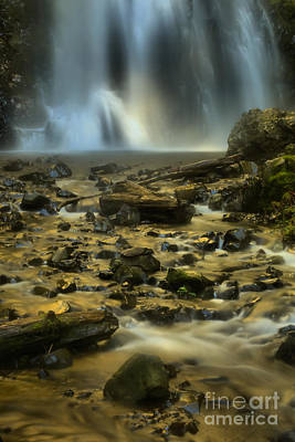 Gushing Into The Creek Art Print by Adam Jewell