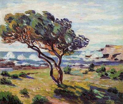 Gusts Painting - Gust Of Wind by Armand Guillaumin
