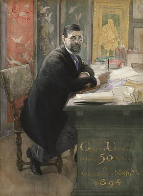 Painter Art Painting - Gustaf Upmark, Director Of The Nationalmuseum by Carl Larsson
