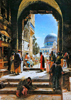 Photograph - Gustav Dome Of The Rock by Munir Alawi