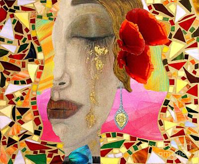 Gustav Klimt-collage Original by Daniela Constantinescu
